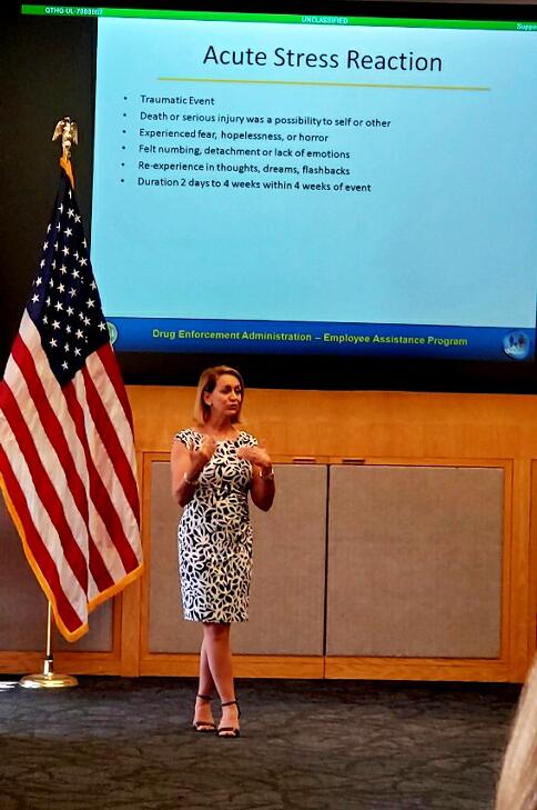 Dr. Anastasia Pytal giving a presentation